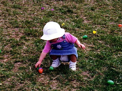 Sydney Jean Kane enjoying a pre-Easter egg hunt at Butler's Orchard. Pat missed out since he was in California on business. That didn't stop Sydney and Kathy from having tons of fun.