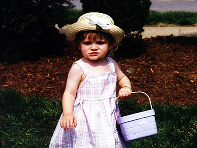 """""""Let me see. Anything over there?"""" It's Easter and time for Sydney Jean Kane to find the eggs we hid on the front lawn of The Kennedy-Warren."""