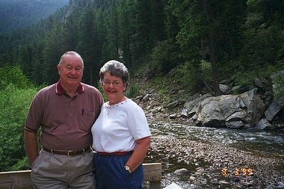Pat's parents, Grady & Mary Clare, enjoying a day out in Estes Park.