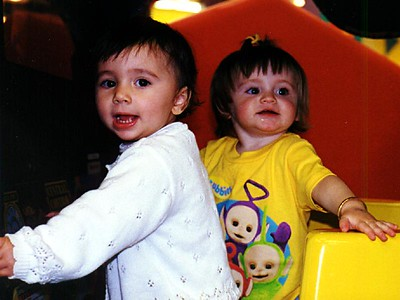 Sydney Jean Kane with a friend at Discovery Zone.