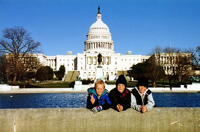 Nathan, Grady and Ryan Roth in front of the U.S. Capitol. What a great picture of these three handsome boys.