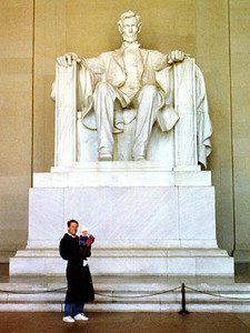 Patrick and Sydney Kane at the Lincoln Memorial.