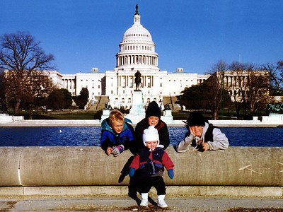 Sydney Jean Kane with her three cousins, Nathan, Grady and Ryan Roth, in front of the U.S. Capitol.