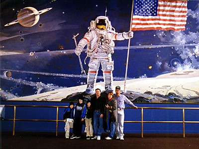 Patrick Kane with his nephews (Nathan, Ryan and Grady), sister (Betsy) and brother-in-law (Frank Roth) at the National Air and Space Museum.