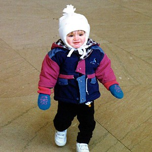 Sydney Jean Kane bundled up nice and warm at the Lincoln Memorial.