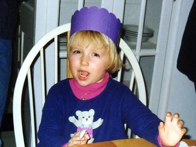 Sydney's friend, Betsy, during Sydney's birthday party.