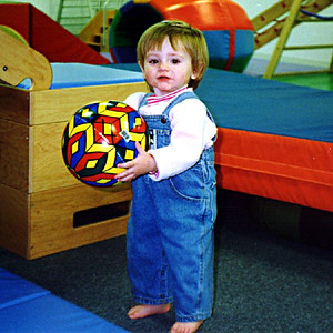 So many balls to choose from! Sydney Jean Kane at Gymboree. These classes have been a lot of fun for both mother and daughter.
