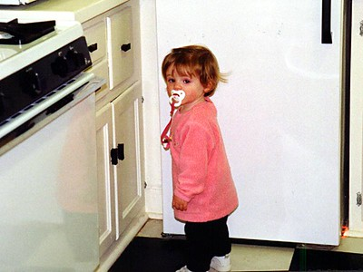 """""""This is my secret hiding place. I like to open this cabinet and crawl in."""" Sydney Jean Kane."""