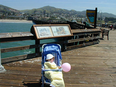 Sydney worn out after a stroll on Ventura Pier