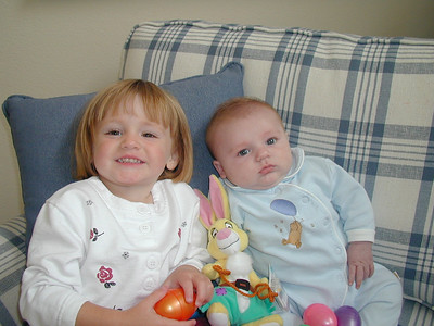Sydney and Christopher relaxing on Easter Sunday