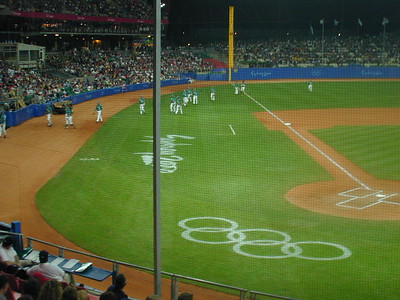 We were able to watch a few baseball games during the 2000 Olympic Summer Games held in Sydney, Australia.