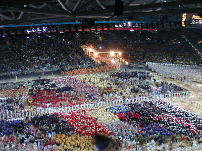 The opening ceremony of the 2000 Olympic Summer Games held in Sydney, Australia.