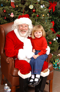 Sydney and Santa at the NFESC Christmas Party.