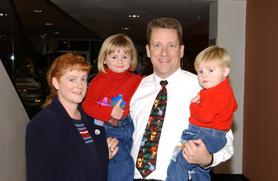 Pat and Kathy with Sydney (almost 4-yrs) and Christopher (almost 2-yrs) at the NFESC Christmas Party.
