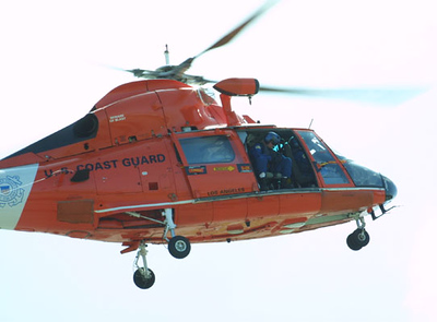 Coast Guard Helicopter at the Seabee Days festival