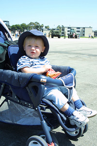 Time for a snack for Christopher at the Seabee Days festival