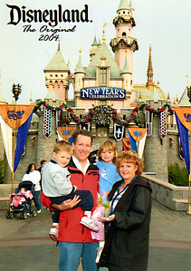Pat, Kathy, Sydney (almost 6) and Christopher (almost 4) welcoming the new year at Disneyland.