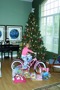 Sydney with her Christmas gifts.