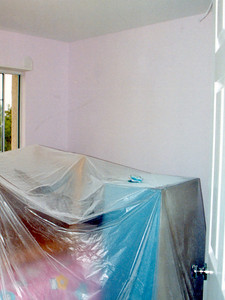 Sydney's room is being painted Mauvette, also by Dunn Edwards. It's a nice pink with a little bit of purple in it.