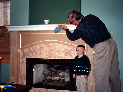 Christopher seems pleased that Dad was able to get Grandpa to clean up.