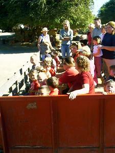 Christopher's preschool class at the Faulkner Farms pumpkin patch in Santa Paula.