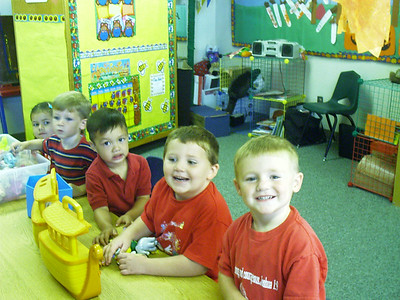 Christopher's preschool class getting ready for their field trip to Faulkner Farms' pumpkin patch in Santa Paula.
