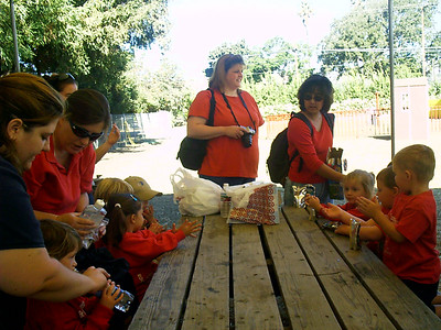 Christopher (far right) and his preschool class at the Faulkner Farms pumpkin patch in Santa Paula.