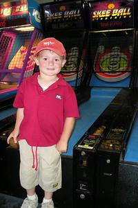 Christopher enjoying the arcade in Ventura Harbor.