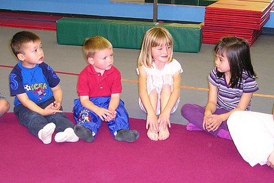 (L to R) Eli, Christopher, Sydney and Sierra at Isaac's birthday party at My Gym.