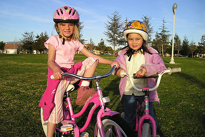 Sydney and Sierra in the park across the street from our house.