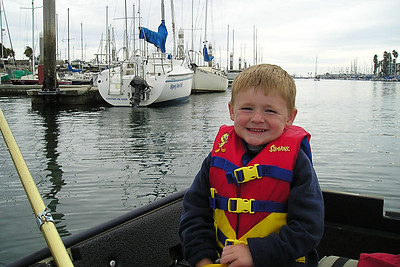 This was our first day out rowing our 10-ft PortaBote. Christopher had fun today, but after being splashed by the sea lion, I think the only way I'll get him out again is to bring along the fishing rods. The boat rows pretty easily and both Sydney and Christopher took turns to help Dad.