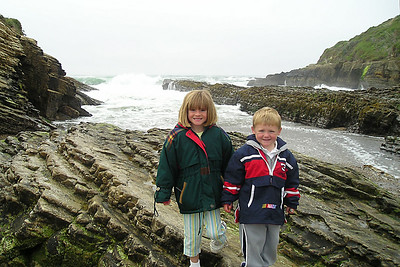 Sydney and Christopher Kane at Spooner's Cove in Montaña de Oro State Park on our first day of camping. The first weekend was foggy, but the rest of the week was beautiful.