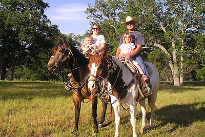 Christopher with Betsy and Sydney with Frank riding horses in the Los Padres National Forest. Frank had to tend to a few stray cattle near the Indians so the kids got a chance for a short ride.