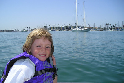 Sydney Kane is checking out some of the pretty yachts in the Channel Islands Harbor.