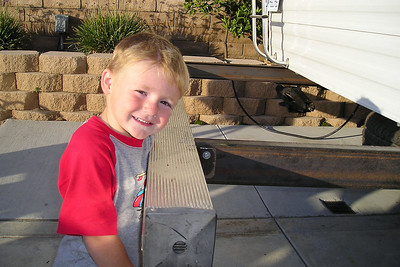 Christopher Kane (and Sydney too) likes to help out on projects. Not only is he a good gopher, he even knows how to use some of the power tools (with a little help from Dad).