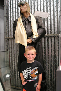 The kids wouldn't let Dad take any more pictures, but that didn't apply to them. Sydney Kane took this picture of Christopher at the World War II Aviation Museum at Camarillo Airport. The museum is operated by the Southern California Wing of the Commerative Air Force.