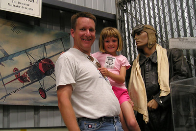 The kids wouldn't let Dad take any more pictures, but that didn't apply to them. Christopher Kane took this picture of Pat and Sydney at the World War II Aviation Museum at Camarillo Airport. The museum is operated by the Southern California Wing of the Commerative Air Force.
