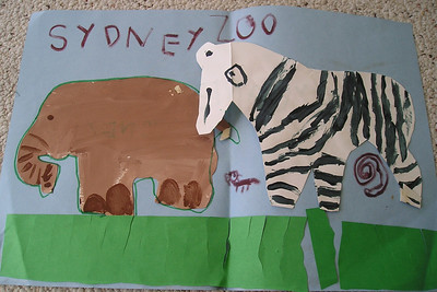 A sample of the artwork that Sydney Kane created during kindergarten at First Baptist Day School.