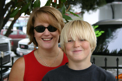 Betsy with her son, Nathan, at the Valley Heritage Day parade.