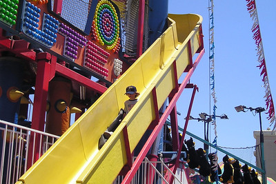 Sydney Kane enjoying one of the rides at the Ventura County Fair.