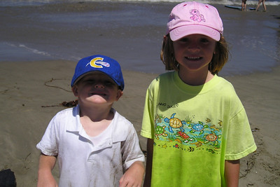 Christopher and Sydney Kane enjoying a day at the beach with friends.