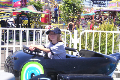 Sydney Kane is not looking too thrilled on this ride at the Ventura County Fair.