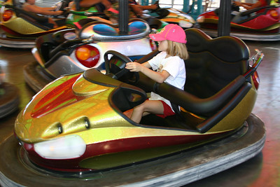 Sydney Kane enjoying the rides during Seabee Days.