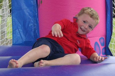 Christopher Kane enjoying the Jolly Jump during Sierra's 6th birthday party.