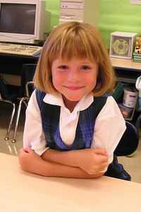 Sydney Kane's first day in 1st grade at St. John's Lutheran School.