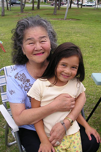 Sierra and her Grandma at her 6th birthday party