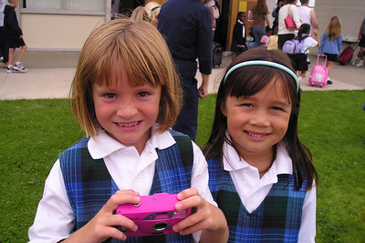 Sydney Kane and Sierra after their first day in 1st grade at St. John's Lutheran School.