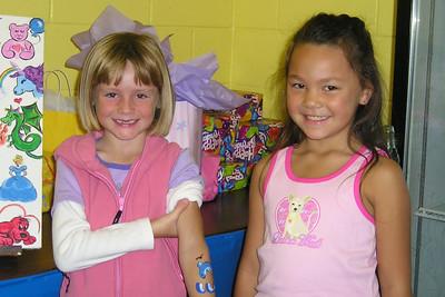 Sydney Kane and Alanna at Katie's birthday party