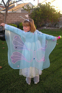 Sydney Kane is dressed as a butterfly and is ready for Halloween.