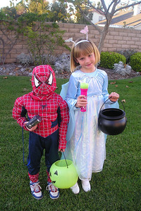 Christopher and Sydney Kane ready for Halloween.